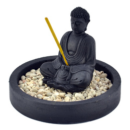 Stone Incense Holder - Zen Buddha