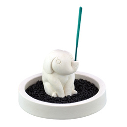 Stone Incense Holder - Baby Elephant