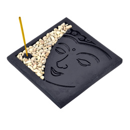 Stone Incense Holder - Buddha Face