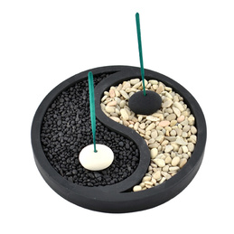 Stone Incense Holder - Yin Yang - Small