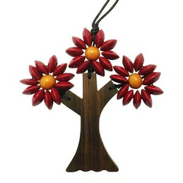 Wooden Three Branches Tree Necklace- Various Colours