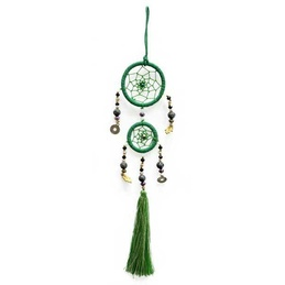 Double Ring Dream Catcher - Green