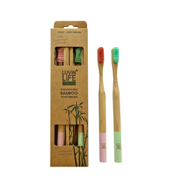 Adult Bamboo Toothbrush - 2 pack
