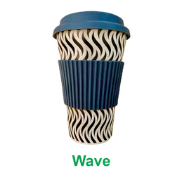 Bamboo Eco Travel Cup - Wave (black & white)