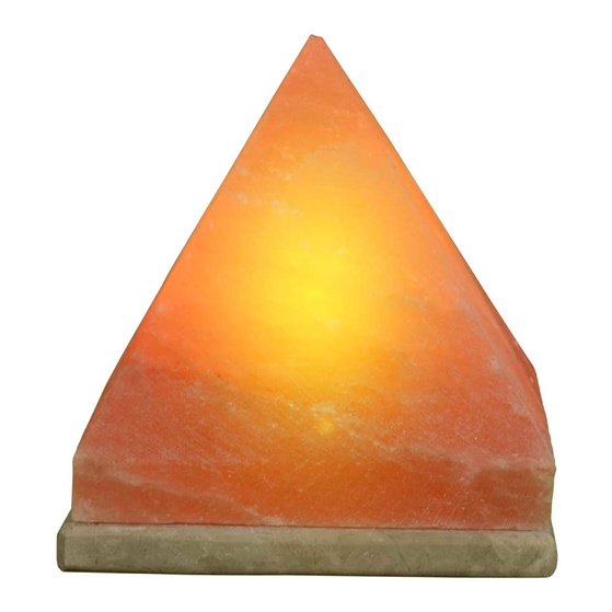Pyramid Shaped Himalayan Salt Lamp - Large