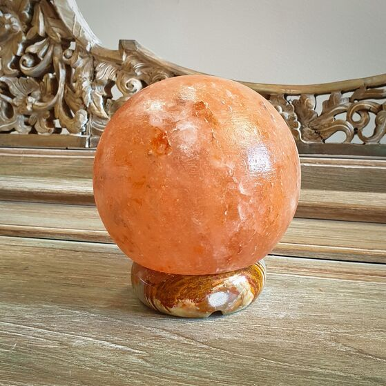 Sphere Shaped Himalayan Salt Lamp - Small