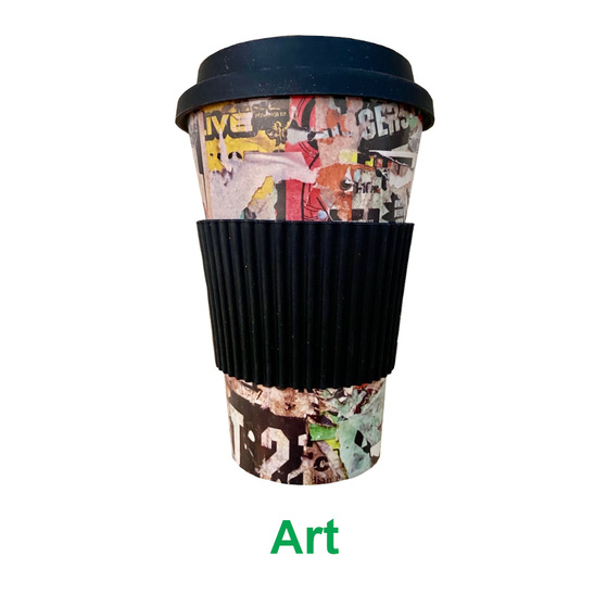 Bamboo Eco Travel Cup- Art (multicolour)